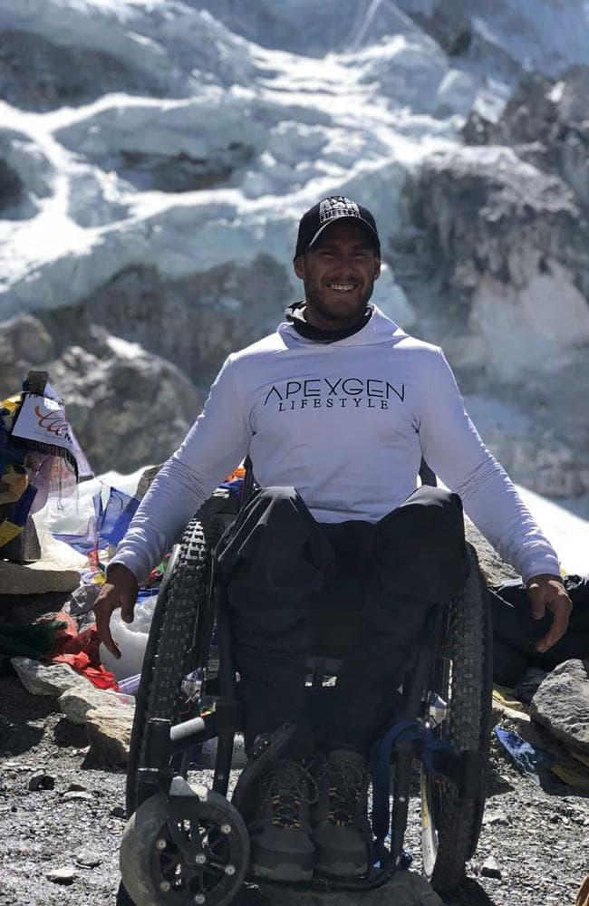 Man climbs Mount Everest in a wheelchair