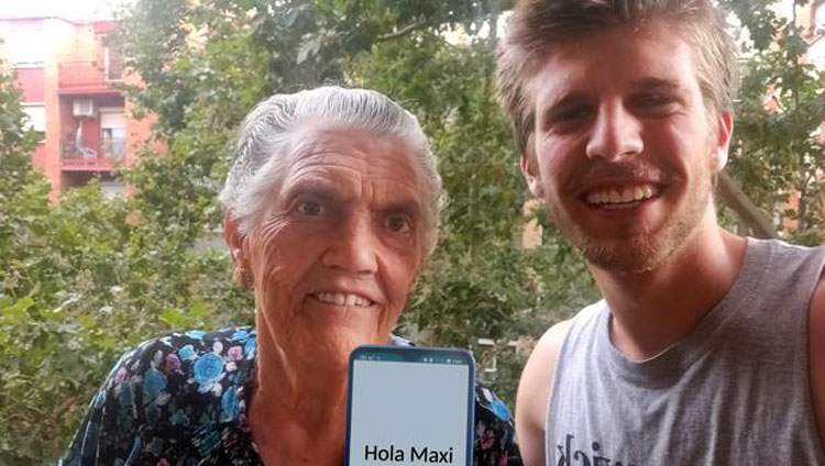 A mobile for the elderly invented by a young man who wanted to video call his grandmother